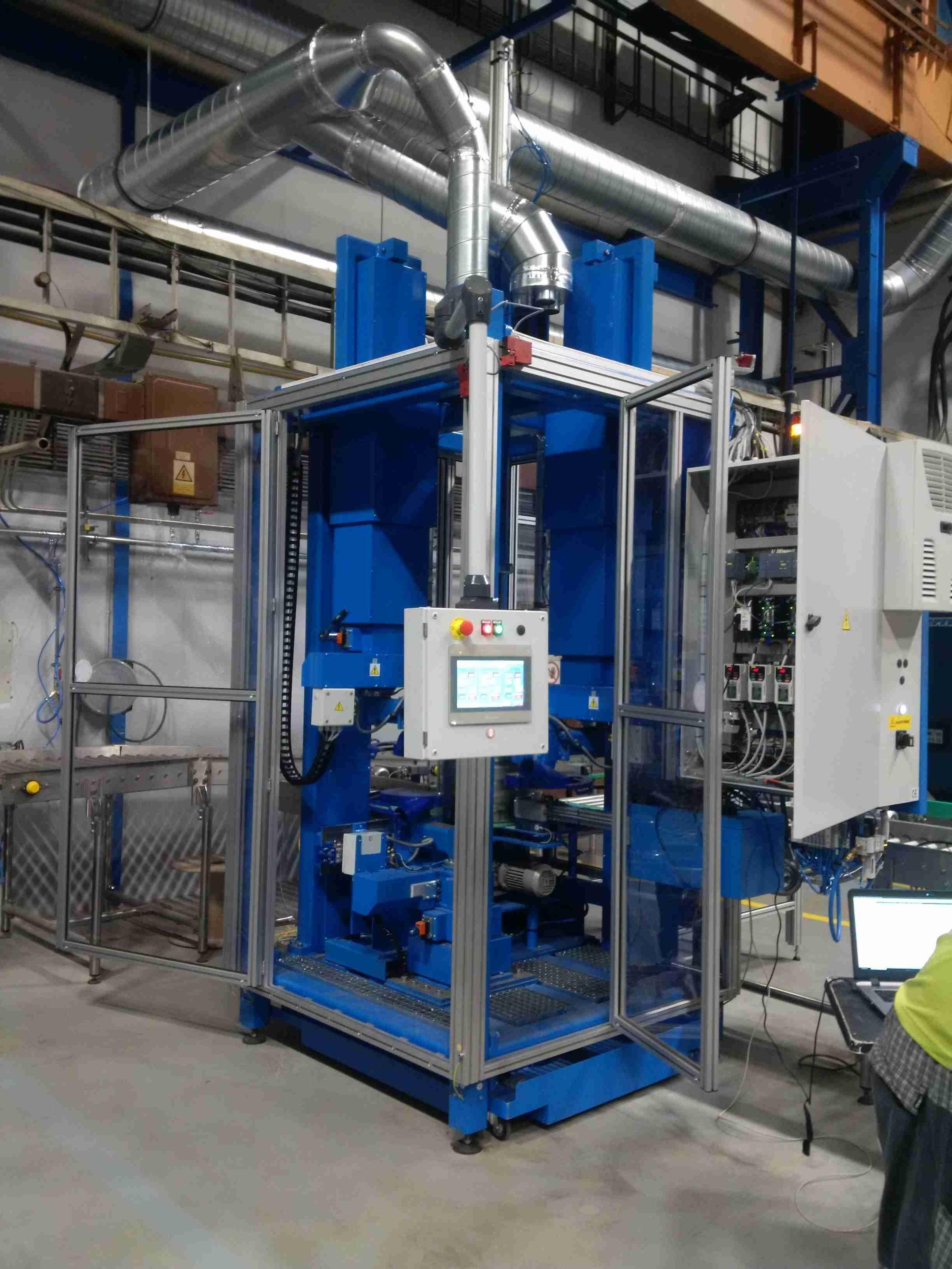 Automatický kartáčovací stroj na začištění svárů - Schaefer Sudex, Ledeč