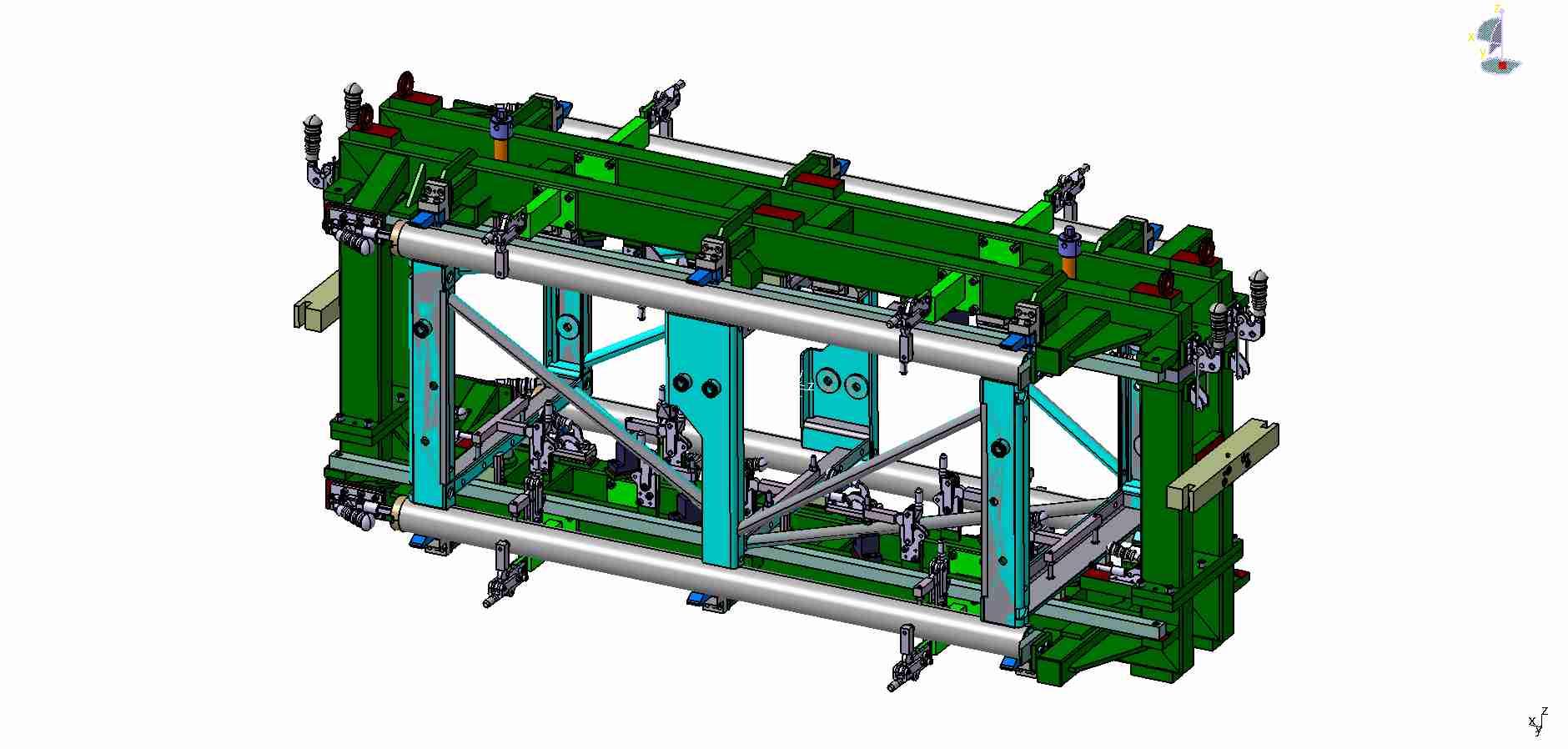 Robotový svařovací přípravek pro výtahové konstrukce - Stros - Sedlčany