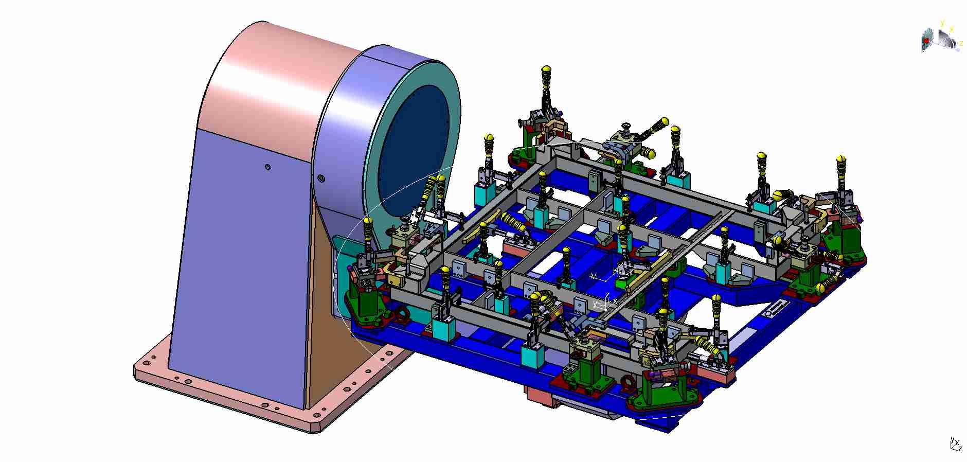 Robotový svařovací přípravek nerezového rámu - Sudex - Ledeč